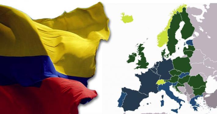 Colombia: firma el acuerdo de exención de visado con 30 países de Europa